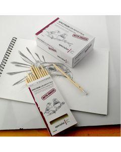 Spectrum Graphites Eraser Tipped HB Pencils